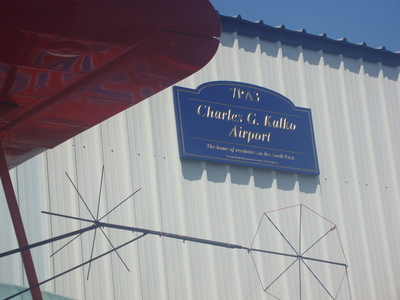 Charles G. Kalko Airport sign