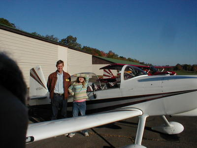 Young Eagle Kathryn with her Pilot Ace, Scott